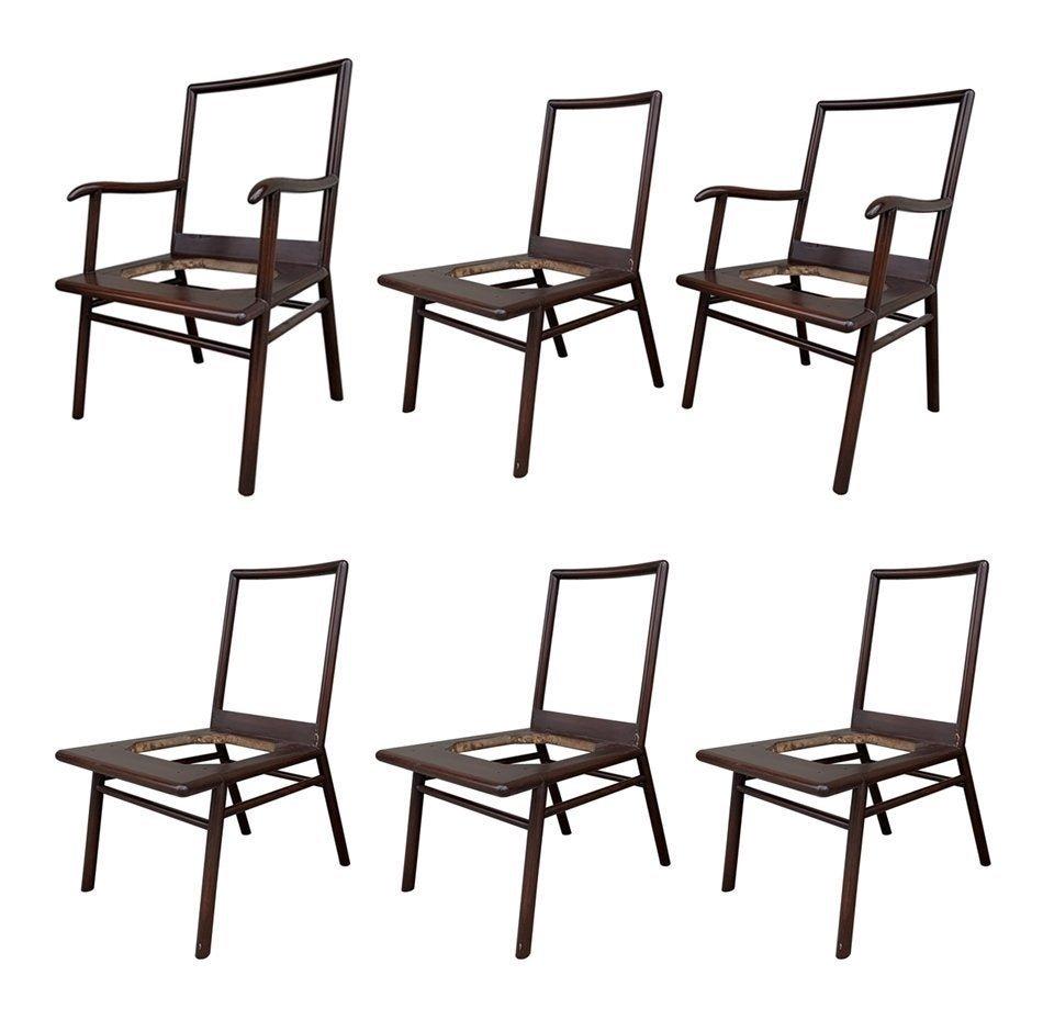 Set of 6 Dining Chairs by Robsjohn Gibbings 4 Widdicomb