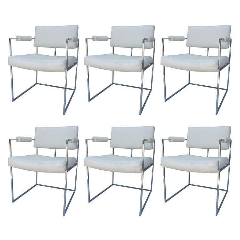 Set of 6 Armchairs by Milo Baughman 4 Thayer Coggin