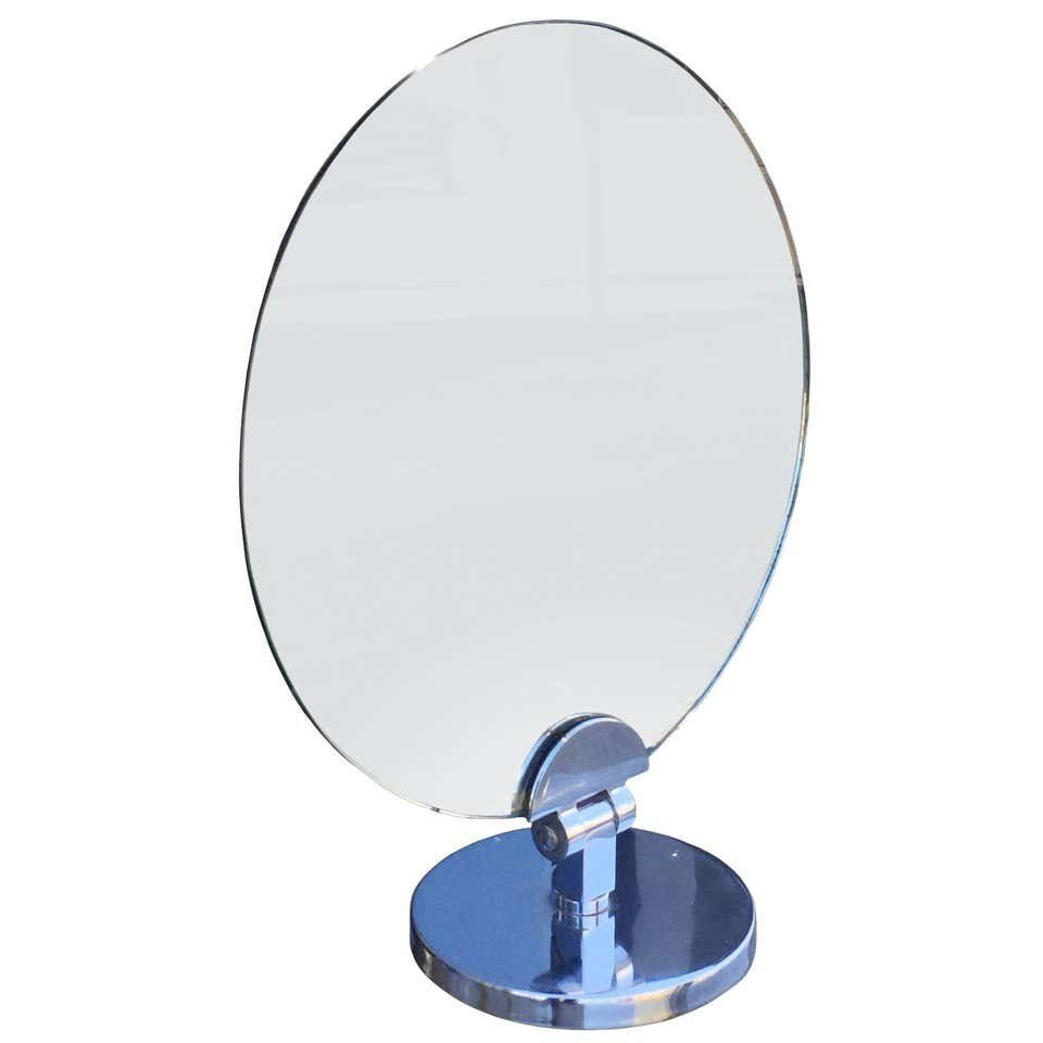 Charles Hollis Jones Swivel Vanit/Table Round Mirror