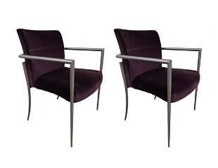 Pair of Cortona Chairs by Joe Ricchio for HBF