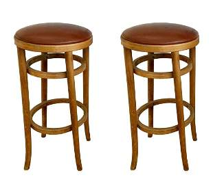 Pair of Barstools by Michael Thonet for Thonet
