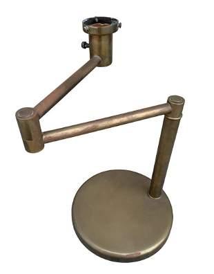 Swing Arm Table Lamp in Brass By Walter Von Nessen