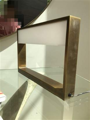 Brass & Glass Table/Reading Lamp