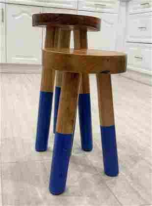 Pair of Wood Stools by Outlook International LTD