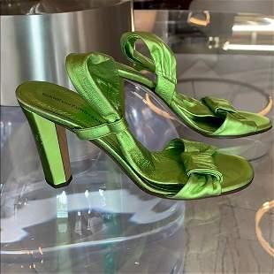 Metallic Green Heels by Diane von Furstenberg sz 7