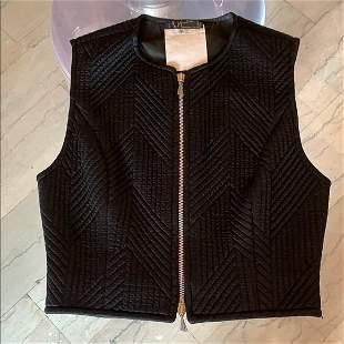 Black Vest in size 4 by Claude Montana Paris