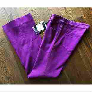 Yves St Laurent Orchid Purple Jeans Sz F36 New W Tags