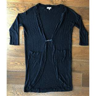 Black Long Cardigan by LNA, Made in the USA, sz M