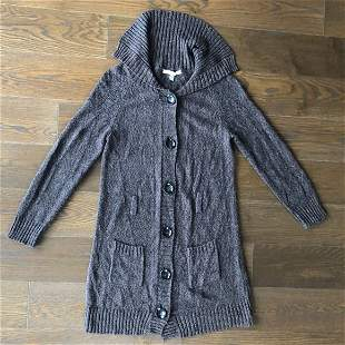 Cowl Neck Long Cardigan by Fever, Size LARGE