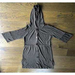 Long Libian Women's Cardigan Hoodie Sweater sz XL