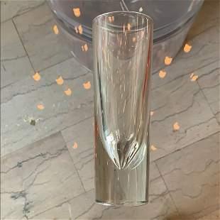 Italian Glass Bullet Shaped Murano Glass Bud Vase