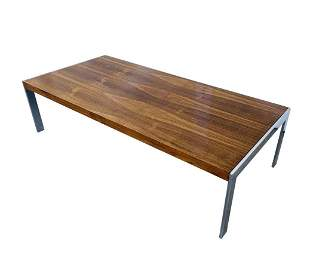 Coffee Table with Chrome Base, Milo Baughman attb