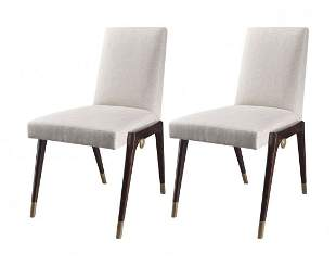 PAIR OF SLING SIDE CHAIRS BY THOMAS PHEASANT for BAKER