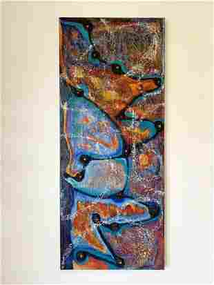"""Large Painting by Wendy Cohen """"Connect the Dots"""""""