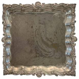 Silverplate Footed Serving Tray by Birmingham Silver Co