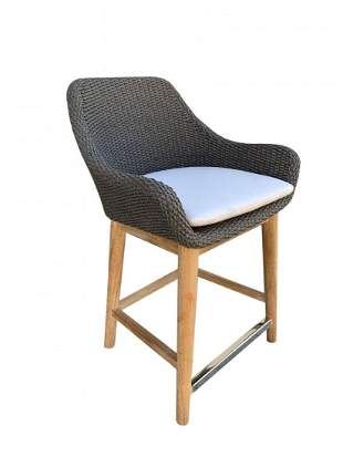 Modern Stool With Rope and Seat and back