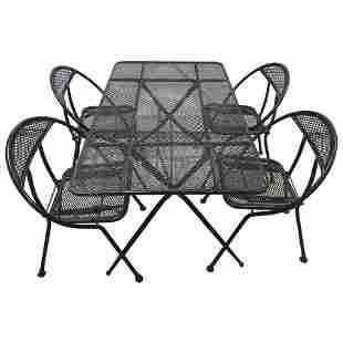 Vintage Folding Patio Set by Salterini for Rid-Jid
