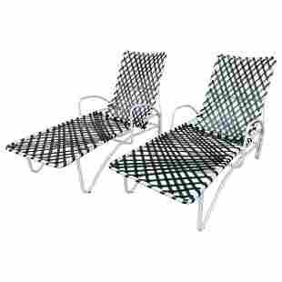 Pair of Vintage Brown Jordan Lido Chaise Lounges