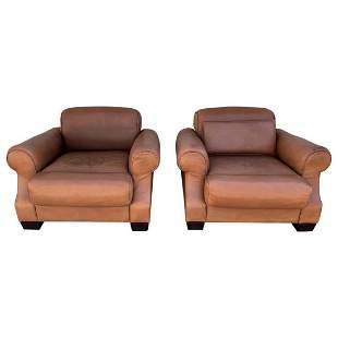Pair of Vintage Leather Chairs by Nienkamper,