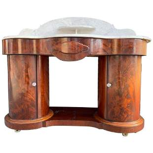1800s Entry Table With Marble Top by F Danby's Of Leeds