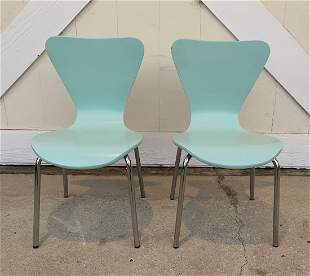 Pair of Mid Century Modern Style Kids Chairs