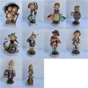Lot of 10 M.J. Hummel Figurines made in Germany
