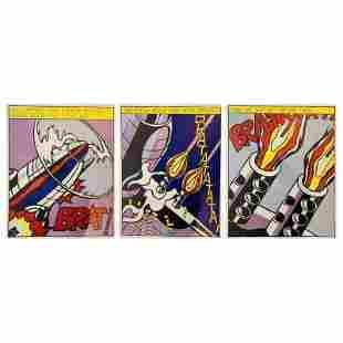 """Roy Lichtenstein, """"As I Opened Fire, 1964"""" Triptych"""