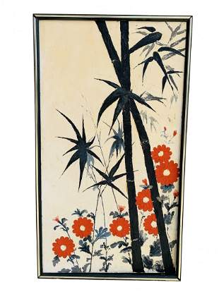 Floral Painting in Canvas, Unsigned