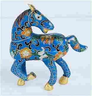 Vintage Chinese Cloiosenne Horse Figurine