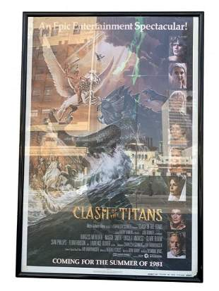 CLASH OF THE TITANS 1981 ORIG 1 SHEET MOVIE POSTER