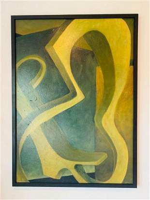 Large Abstract Painting by Sarah Dwyer, Signed/Dated 99