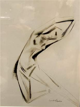 Dancing Figure Composition by Maurice Sterne ca 1930