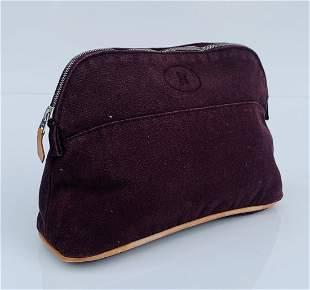 Hermès Bolide Canvas Clutch or Toiletry Bag