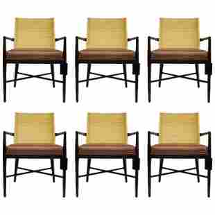 Set of 6 Hanover Arm Chairs by Palacek, New With Tags