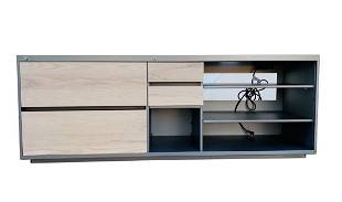 Industrial Credenza in Metal & Wood from Ryan Seacrest