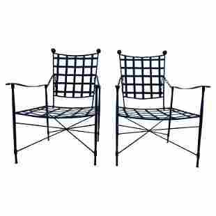 Pair of Metal Patio Lounge Chairs Salterini Style