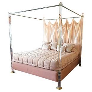"Charles Hollis Jones ""Bob Hope"" King-Size Bed in Lucite"