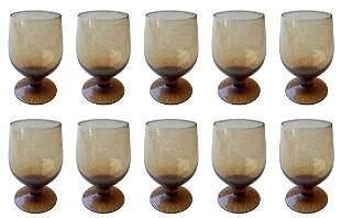 Set of 10 Amber Glasses