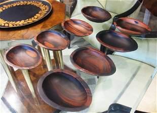 Set pf 8 Rosewood Bowls