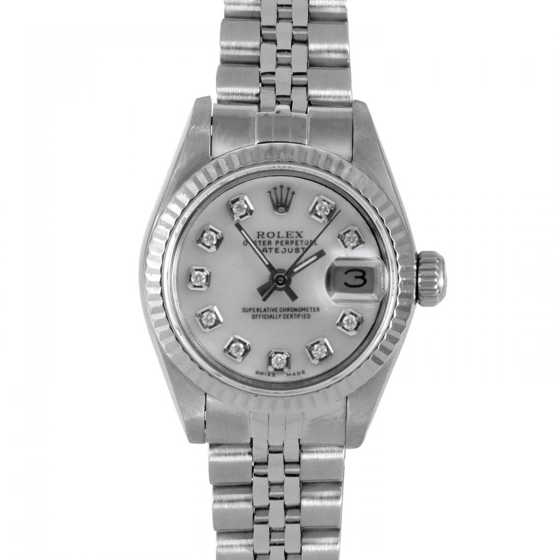 Rolex Ladies 69174 Datejust - MOP Diamond Dial