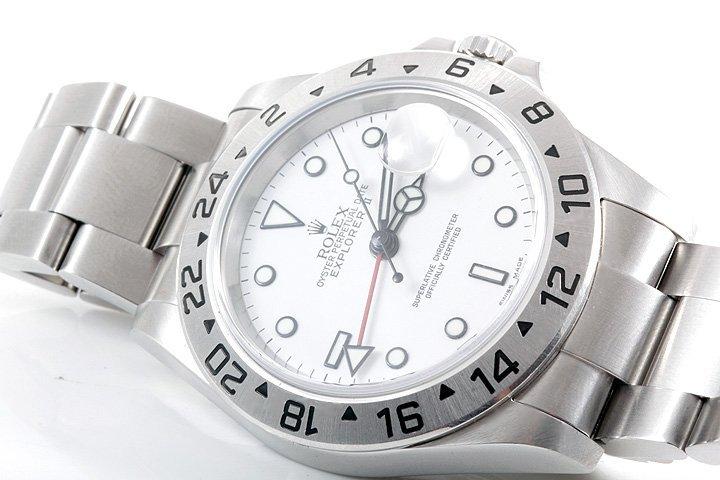 Rolex Mens SS Explorer II - White Dial 16570