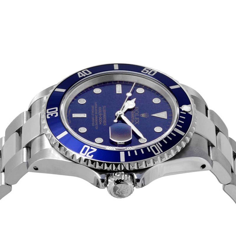 Rolex Mens 16610 Submariner - Blue Dial - Blue Insert