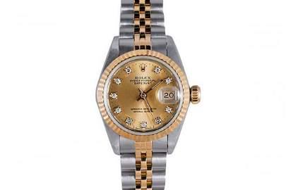 Rolex Ladies 2tone Datejust - Champagne Diamond Dial