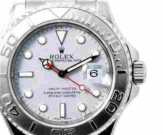 Rolex Mens 16622 Yachtmaster - Platinum Dial/ Bezel