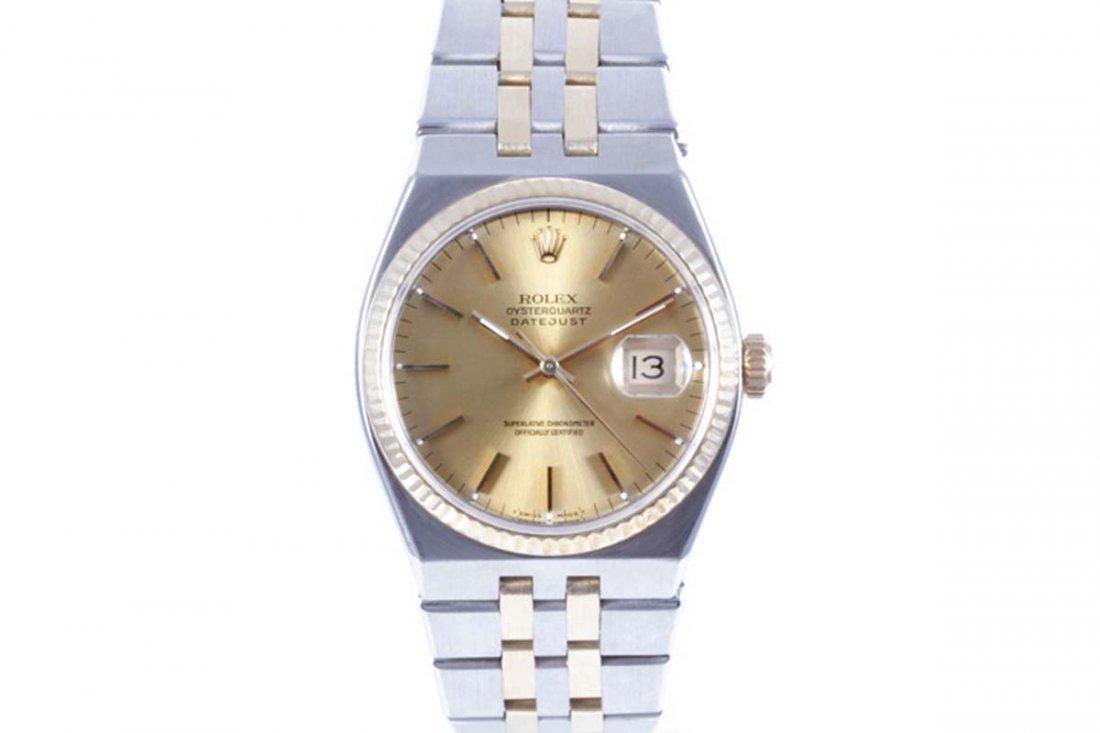 Rolex Mens 18K/SS Oyster-Quartz Datejust - 17013