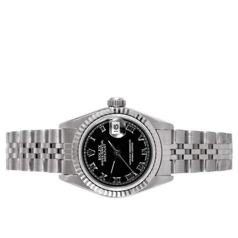Rolex Ladies 69174 Datejust-Black Roman Dial