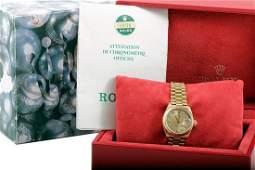 Rolex Ladies 18K President - Champagne Diamond Dial