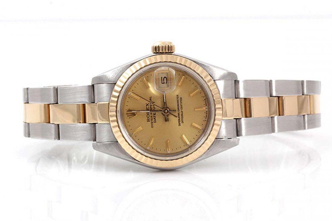 Rolex Ladies 18K/SS Datejust - Champagne Dial/Oyster