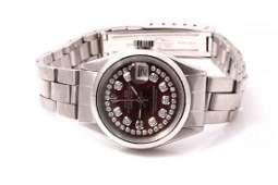 Rolex Ladies Datejust - Purple MOP Diamond String Dial