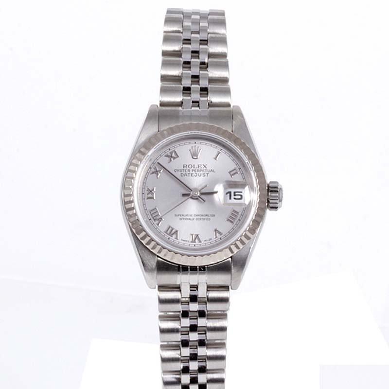 Rolex Ladies 79174 Datejust - Rhodium Roman Dial